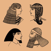 Head Egyptians — Stock Vector