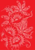 Red poppies — Vector de stock