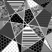 Abstratcion 黒とワイト島 — ストックベクタ