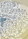 Chrysanthemums — Stock Vector