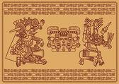 Zwei obersten Gottheiten der maya — Stockvektor
