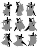 Ballroom dancing — Stock Vector