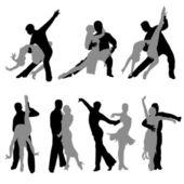Sports dance — Stock Vector