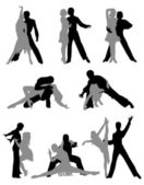 Sports dancing — Stock Vector