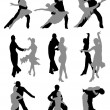 Sports dancing — Stockvector #11374816
