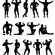 Bodybuilders - Stock Vector