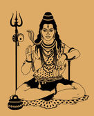 Indian god Shiva — Vector de stock