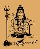 Indický bůh šiva — Stock vektor