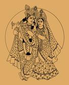 Indičtí bohové — Stock vektor