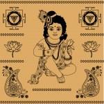 Indian decorative elements — Stock Vector