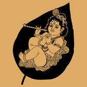 Krishna is a little — Stock Vector
