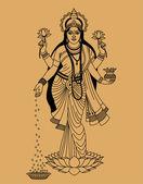 Déesse hindoue — Vecteur