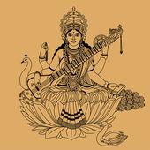 印度教女神 — 图库矢量图片