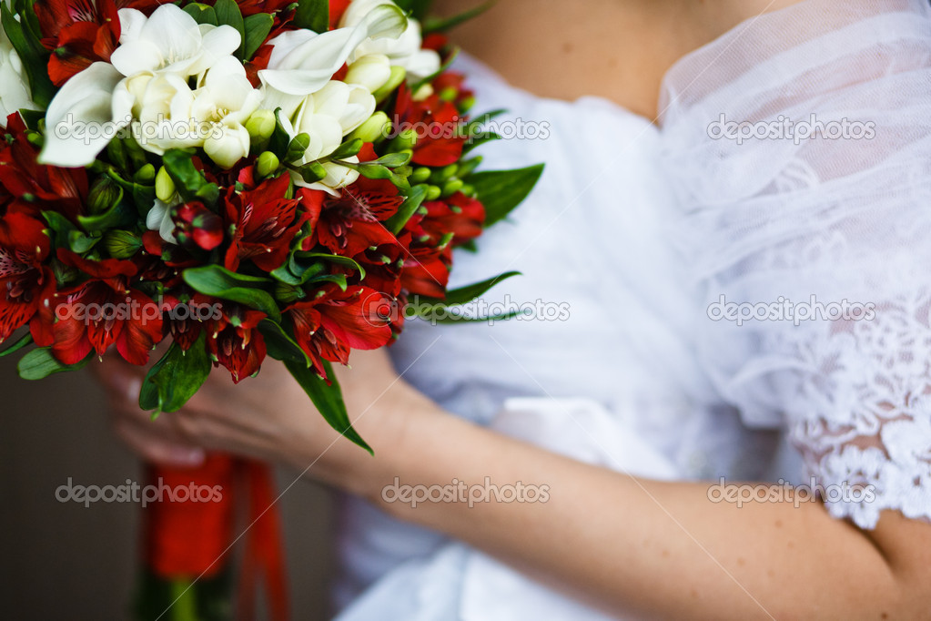 Close up of wedding bouquet — Stock Photo #11245035