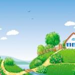 Rural landscape — Stock Vector #10815115