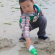 Stock Photo: Kid play in the beach
