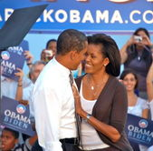 Barack obama andmichelle obama — Photo