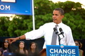 Barack Obama at Bayfront Park 2008 — Stock Photo