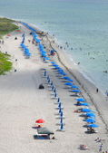 Aerial View of a Beach on Key Biscayne — Stock Photo
