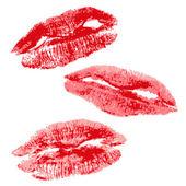 Lips imprint — Stock Vector