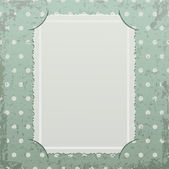 Photo frame on retro background — Stock Vector