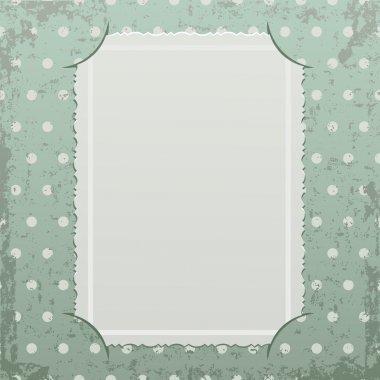 Photo frame on retro background