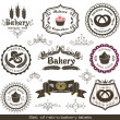 Set of vintage retro bakery labels — Stock Vector #11036986