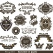 Stock Vector: Vintage Styled Premium Quality and Satisfaction Guarantee Label.