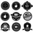 Vintage Styled Premium Quality and Satisfaction Guarantee Label. Black and white design. — Stock Vector