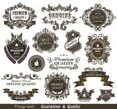 Vintage Styled Premium Quality and Satisfaction Guarantee Label. — Vecteur