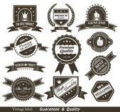 Vintage Styled Premium Quality and Satisfaction Guarantee Label. — Stock Vector