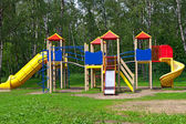 Children's playground in the park — Stock Photo