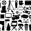 Movie related elements - Stock Vector