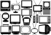 Tv set collage — Stock Vector