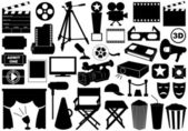 Movie related elements — Stock Vector