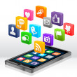 Social Media Apps - Stock Photo
