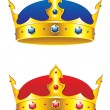 Stock Vector: King crown with gems and embellishments