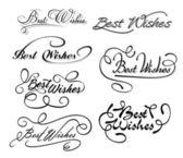 Best wishes calligraphic elements — Stock Vector