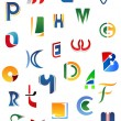 Alphabet letters and icons — Stockvectorbeeld