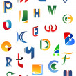 Stock Vector: Alphabet letters and icons