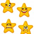 Cartoon stars - Stock Vector