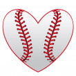 Baseball heart — Stockvector #10932731