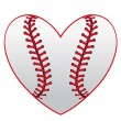 Stock Vector: Baseball heart