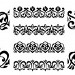Stock Vector: Ornamental elements and embellishments