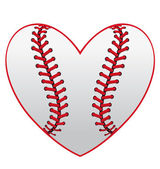 Baseball heart — Stock Vector