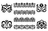 Ornamental elements and embellishments — Stock Vector