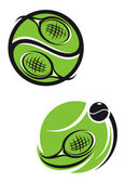 Tennis emblems — Stock Vector