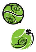 Emblemas de tenis — Vector de stock