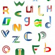 Alphabet letters and icons from A to Z — Vettoriali Stock