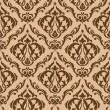 Tracery brown seamless pattern — Stockvectorbeeld